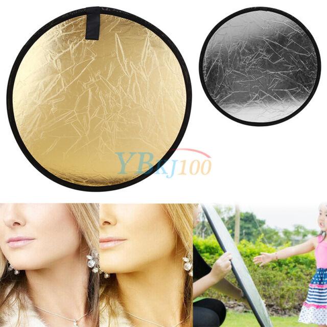 "Portable 23.6"" 60cm 2 in 1 Gold&Silver Photography Studio Light Reflector Board"