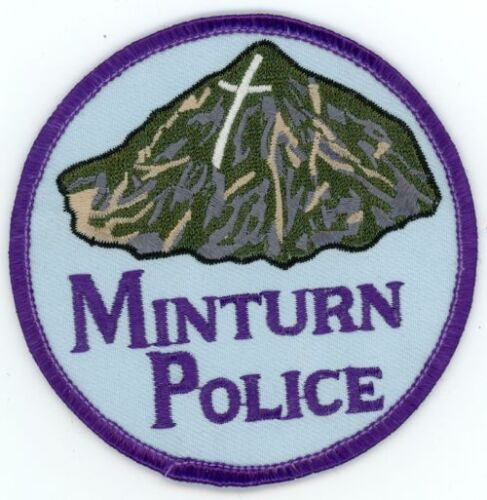 """MINTURN COLORADO CO POLICE COLORFUL 3 1//2 /"""" SEE BELOW FOR GREAT DEAL"""