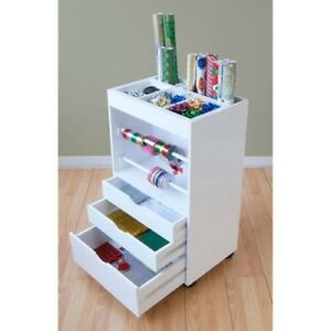 WRAPPING PAPER STORAGE  sc 1 st  eBay & 10 COOL CRAFT STORAGE SOLUTIONS