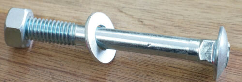"""Bolt Nut /& Washer Pk 10 Cup Head 1//2/"""" BSW Half Inch Zinc Plated"""