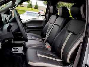 Katzkin Black Leather Repla Seat Covers Fits 2015 2018 Ford F150