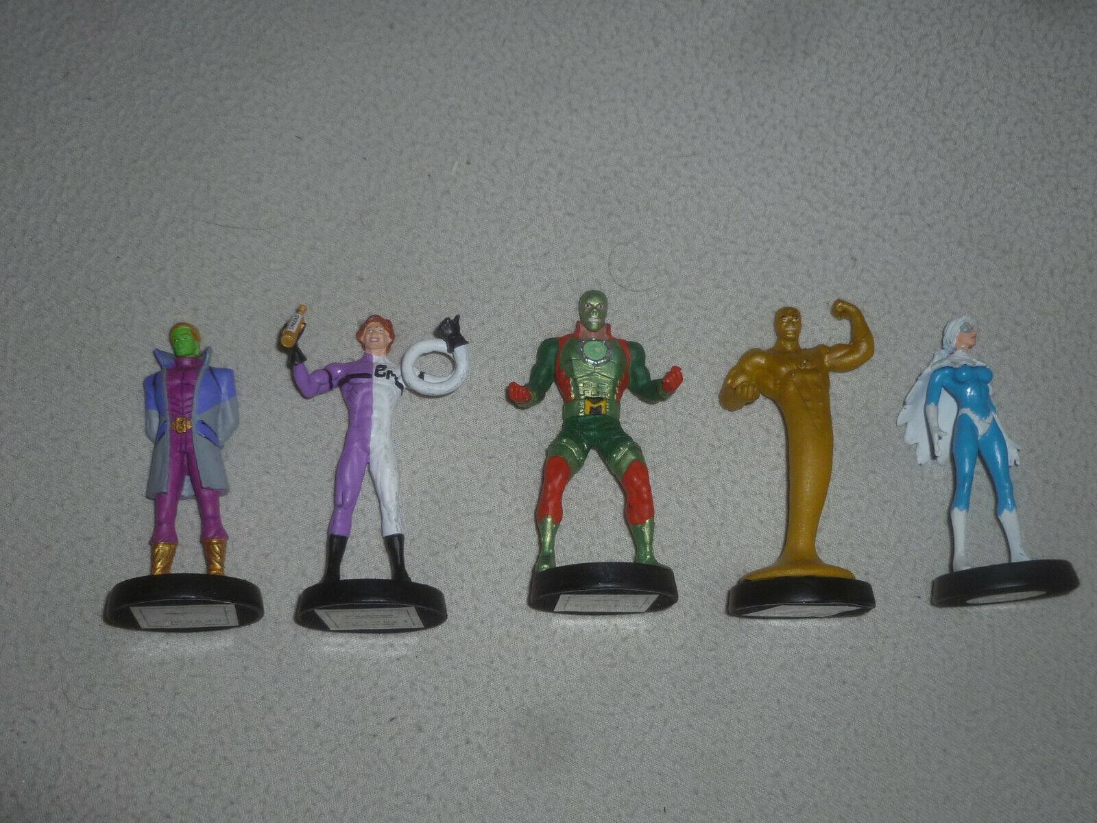 DC Comics súper Heroes Metal Diecast Figura lot Paloma alargada hombre Braniac oro