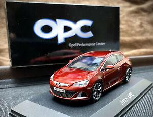 OPEL-Astra-J-OPC-GTC-1-43-coche-modelo-de-coleccionista-Color-Rojo-Opel-VXR