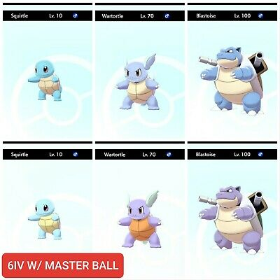 Pokemon Sword And Shield Ultra Shiny Squirtle Wartortle Blastoise Non Shiny Ebay Squirtle's water type gives a damage bonus with most water moves. pokemon sword and shield ultra shiny squirtle wartortle blastoise non shiny ebay