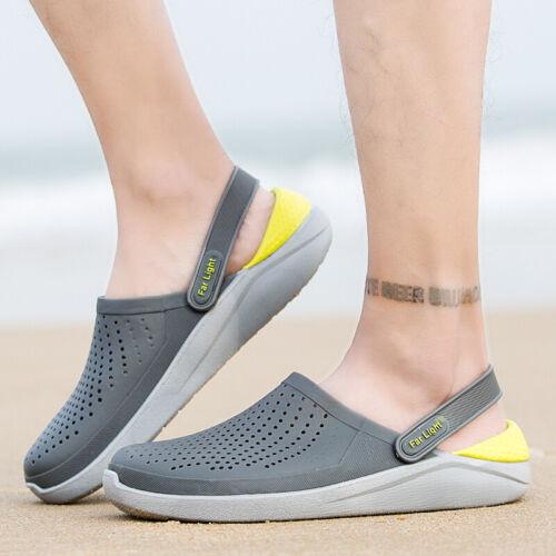 Men Garden Clogs Slip On Mules Sandals Beach Pool Hospital Slippers Hole Shoes B