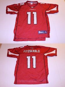 newest e140f d6928 Details about Youth Arizona Cardinals Larry Fitzgerald L (14/16) Jersey  (Red) Reebok Jersey