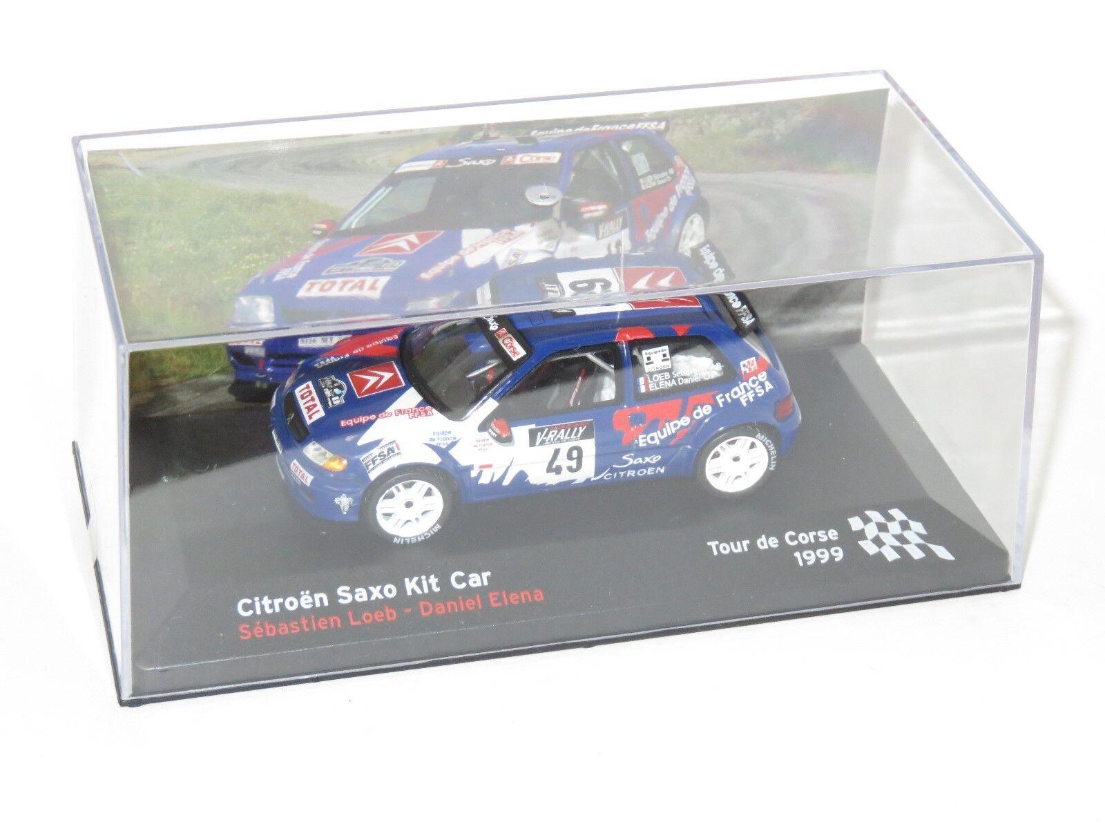 1 43 Citroen Saxo Kit Car FFSA  Rallye de France Tour de Corse 1999 S.Loeb