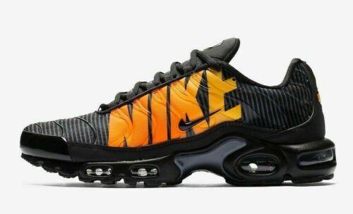 "Nike Air Max Plus TN SE /""Mercurial/"" Black//Tour Yellow Orange Shoes AT0040 002"