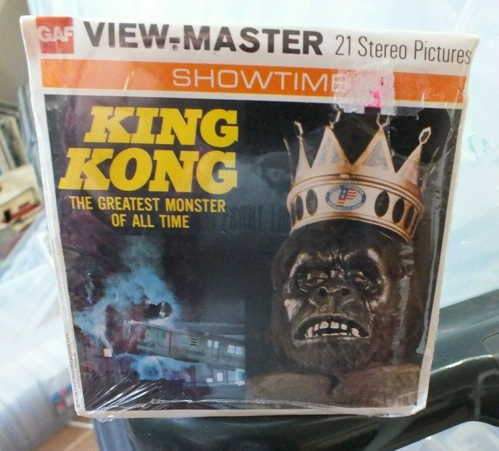 MINT   SEALED  KING KONG VIEWMASTER REELS SET B392 RARE VINTAGE 1970's   D516