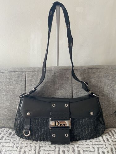 Christian Dior Black Leather Canvas STREET CHIC Co