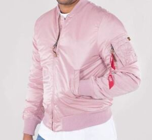 Details about Alpha Industries Ma 1 VF 59 Long Silver Pink 168100397