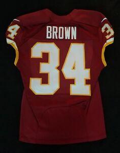#34 Mack Brown of Washington Redskins NFL Game Issued Player Worn Jersey