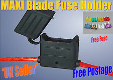 In linea MAXI BLADE FUSE HOLDER, Impermeabile, Splash Proof, ** libero 50 amp fusibile **