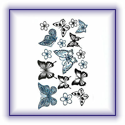 Einmal Tattoo Haut Körper Schmuck Schmetterlinge Neu