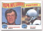 1975 Topps Tom Blanchard/ Ray Guy #6 Football Card