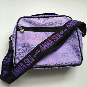 Image Is Loading Anna Sui Womens Las Purple Messenger Shoulder Bag