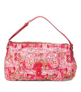 Image Is Loading New Oilily Mosaic Shoulder Bag Purse In Strawberry