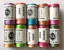 100% Misti Rayon Filo Per Macchina Per Cucire (10-Bright Colore Rocchetti Set )