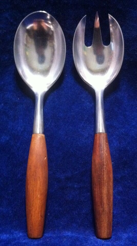 Dansk inox vintage Fjord 2 PC Serving Set