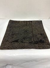 """Pottery Barn West Elm Sequin Sofa Chair Throw Pillow Cover Brown Copper 14"""""""