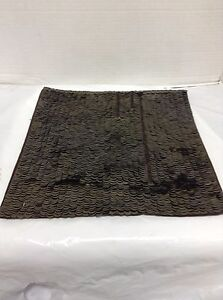 pottery barn west elm sequin sofa chair throw pillow cover brown copper 14 ebay. Black Bedroom Furniture Sets. Home Design Ideas
