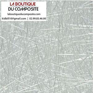 10M² DE MAT DE VERRE 300g. pour résine polyester.