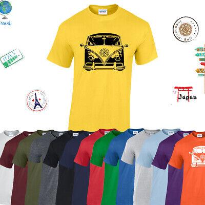 VW Camper Classic Mens Tshirt Van Vanagon Bug Beetle Happy Camper Gift Tee