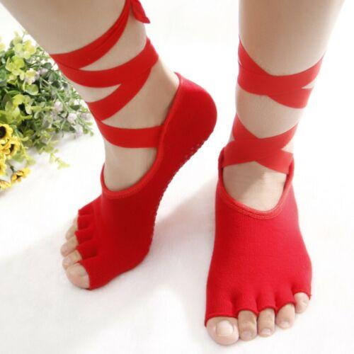 Open Toe Women Anti Slip Finger-separated Yoga Socks Sport Ballet Dance Socks