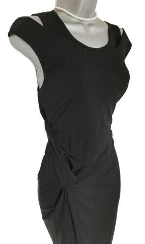 Evening Formal Uk Ruched Elegant Black Karen Jersey Millen Dress Side Eu 12 40 xqRWz0Xz