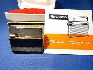 Rowenta-034-petit-034-Feuerzeug-in-Gold-mit-Originalkasten-gasdicht-funktionsfahig