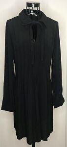 Ladies-MAX-STUDIO-MAX-MARA-Black-Tie-Long-Sleeved-Dress-Large-14-16