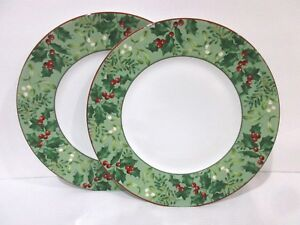 Image is loading 222-Fifth-Christmas-Foliage-Berries-Red-Dinner-Plates- & 222 Fifth Christmas Foliage Berries Red Dinner Plates Set Of 2 | eBay