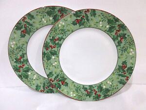 Image is loading 222-Fifth-Christmas-Foliage-Berries-Red-Dinner-Plates- & 222 Fifth Christmas Foliage Berries Red Dinner Plates Set Of 2 | eBay