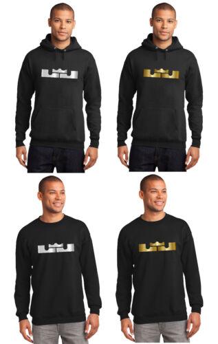 New Mens Hoodie Lebron James LA Lakers Los Angeles Shirt Metallic Silver or Gold