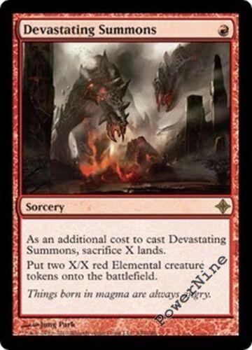 Red Rise of the Eldrazi Mtg Magic Rare 4x x4 4 FOIL Devastating Summons
