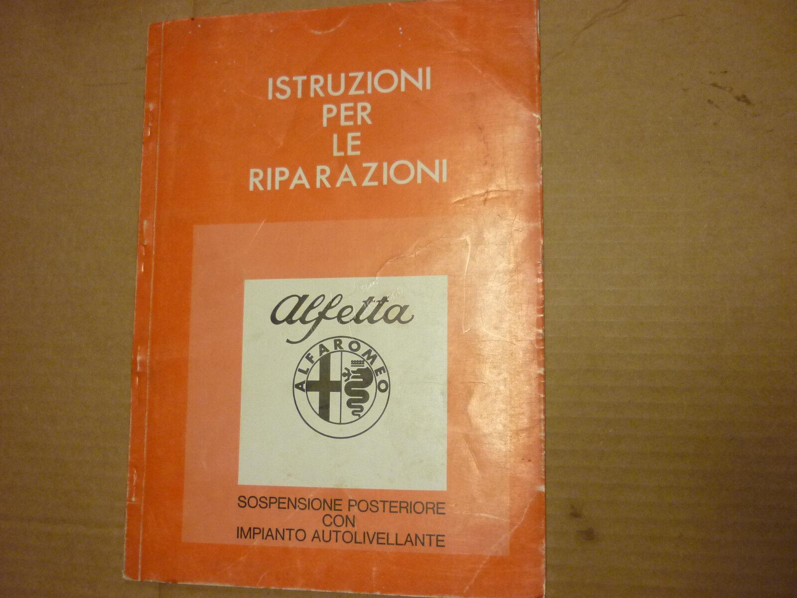 Manuale Per Riparazione Post Alfa Romeo Alfetta Sospensione