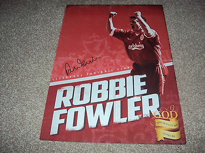 16x12 LIMITED EDITION ART PRINT HAND SIGNED ROBBIE FOWLER, LIVERPOOL LEGEND, COA