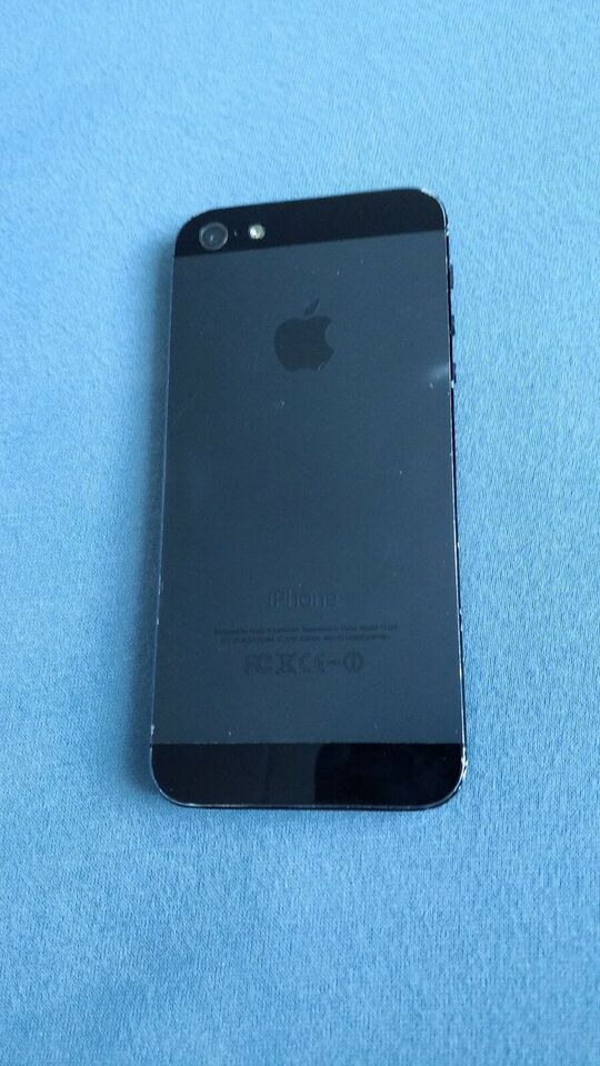 iPhone 5, 32 GB, sort