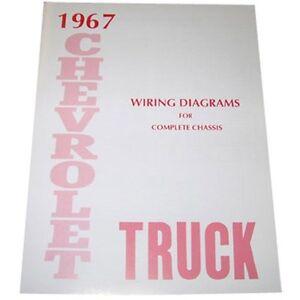 1967 Wiring Diagrams Booklet Chevrolet Pickup Truck   eBay