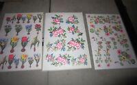 Rub On Transfers - Flowers-150 Sheets 3 Designs
