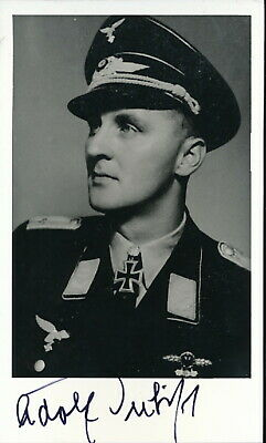 JG-51 690 missions. 88 kills Helmut Ruffler signed photo Luftwaffe Ace