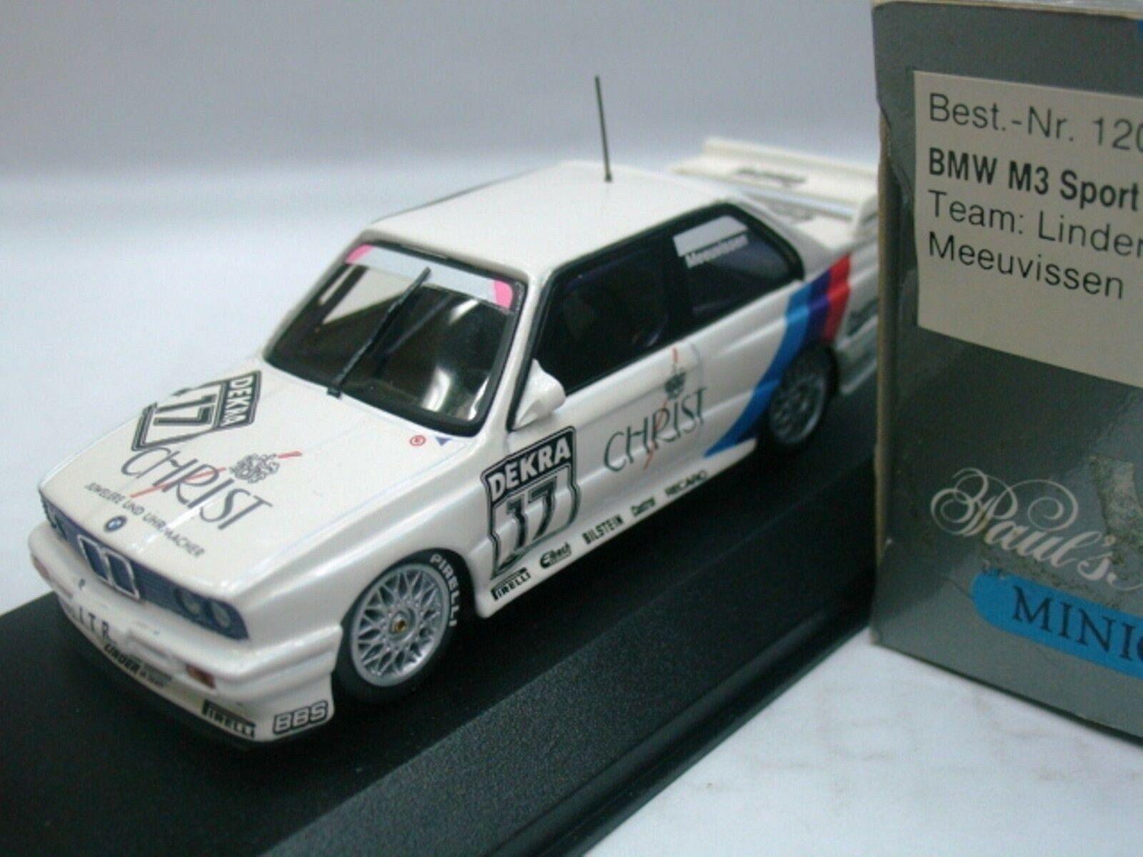 Wow extrêmement rare rare rare BMW M3 E30 se DTM 1991  17 meeuvissen 1 43 Minichamps - 635 M5 daed8d