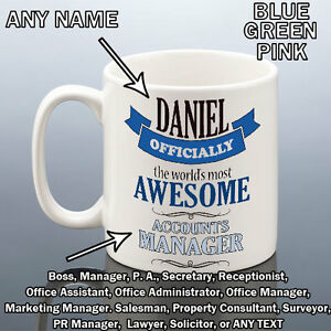 Image Is Loading AWESOME BOSS MUG PA SECRETARY WORK OFFICE