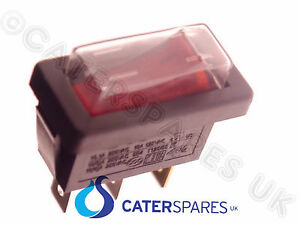 ARCHWAY KEBAB DONER MACHINE POWER ON OFF SINGLE SLIM SWITCH WITH COVER RED NEON