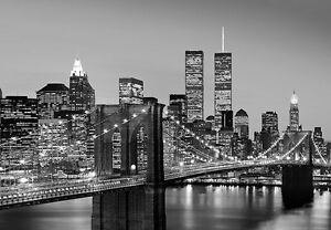 Details About New York Wall Mural Photo Wallpaper 366x254cm Cityscape Manhattan Skyline Night