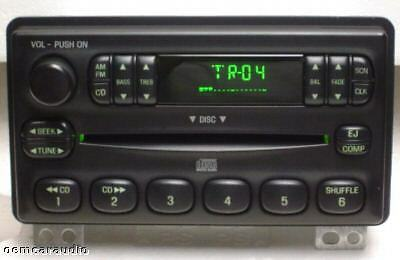 2001-2005 Ford Lincoln Mercury OEM AM FM Radio Single CD Player Receiver