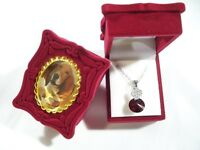 Maroon Color Velvet Gift Box Open Screen Jewelry Fit Necklace & Earrings