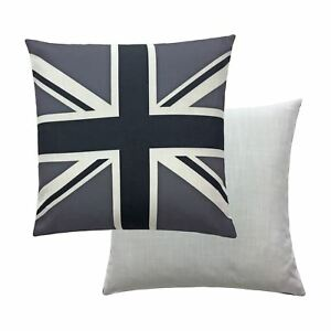 Union-Jack-Negro-Blanco-Gris-43-2cm-43-cm-Funda-De-Cojin