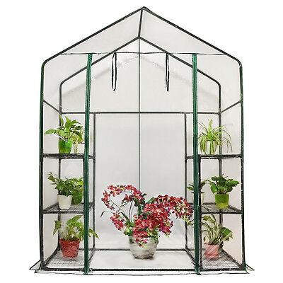 Peaktop® 6 Shelves Portable Mini Greenhouse Green Grow Hot House