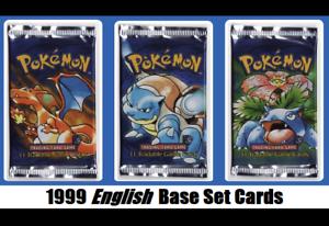 Base Juego Aleatorio Pokemon Cartas Lote  Pokémon Original Primero 1999 Wotc